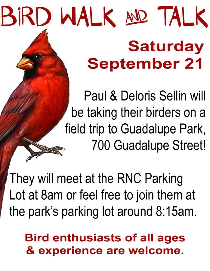 September Bird Walk & Talk j-01